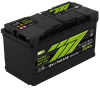 Батарея аккумуляторная 777 GREEN 12В 75А/ч 720А обратная поляр. стандартные клеммы